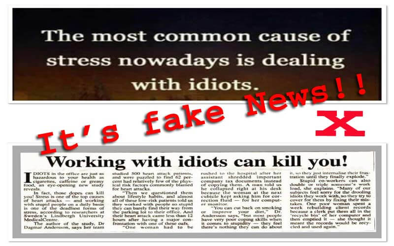 Beware of Stupid People At Work, They Can Kill You